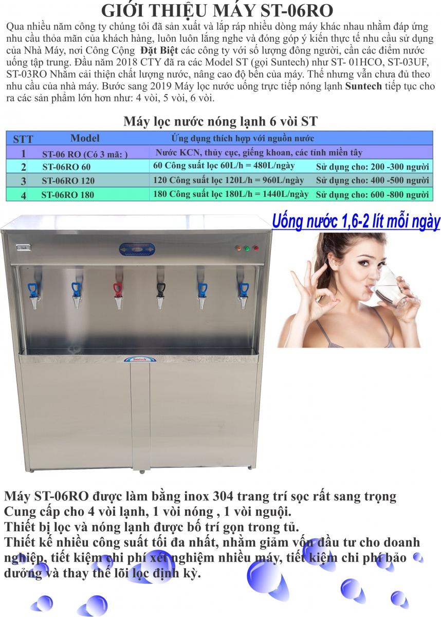 Máy lọc nước uống 6 vòi nóng lạnh ST-06RO | maylocnuocnonglanh.vn